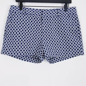 Banana Republic Rio Jacquard Mystic Blue Shorts 8